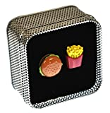 Onyx Art Cufflinks - Burger and Fries