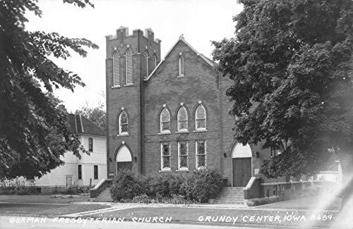 Real Photo Postcard German Presbyterian Church in Grundy Center, Iowa~122155