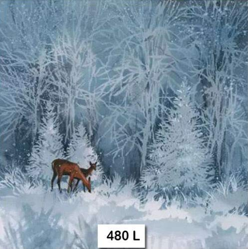 GS Deer Winter Snow Forest Two Individual Paper Luncheon Decoupage Napkins 480