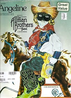 Sheet Music 1980 Angeline The Allman Brothers Band 204