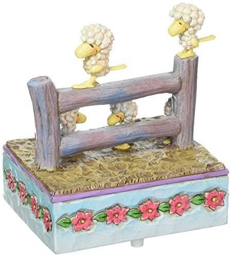 Enesco Peanuts by Jim Shore Woodstock Friends As Sheep Musical Figurine