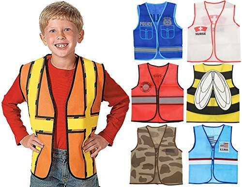 Kids Dressup Set #1 with 7 Costume Vests (Dress Up Clothes For Boys)