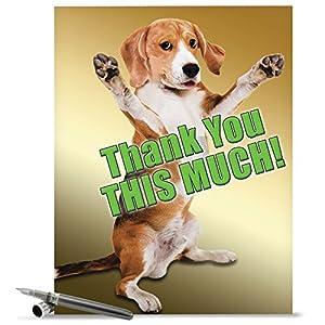 Amazon.com : J2232TYG Jumbo Funny Thank You Card: This