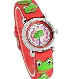Fashion Brand Quartz Wrist Watch Baby Children Girls Boys Watch Frog Design Waterproof Watches