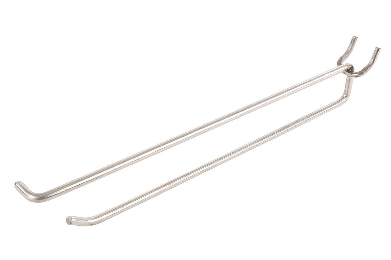 FFR Merchandising 7252641802 Metal Peg Scan Hook, 10'' Length, 4 Gauge (Pack of 100)