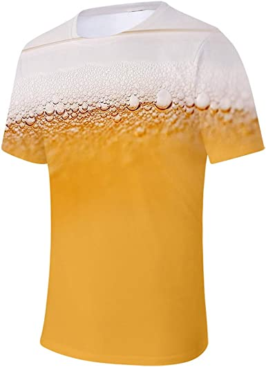 Sylar Camisetas Hombre Manga Corta Camisetas Hombre Verano Moda Diario Casual T-Shirt Blusas Camisas Moda Personalidad Estampado De Burbujas De Cerveza 3D Hombres Manga Corta Camisa Blusa Superior: Amazon.es: Ropa y accesorios