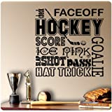 Hockey Sport Sayings Wall Decal Sticker Art Mural Home Décor Quote