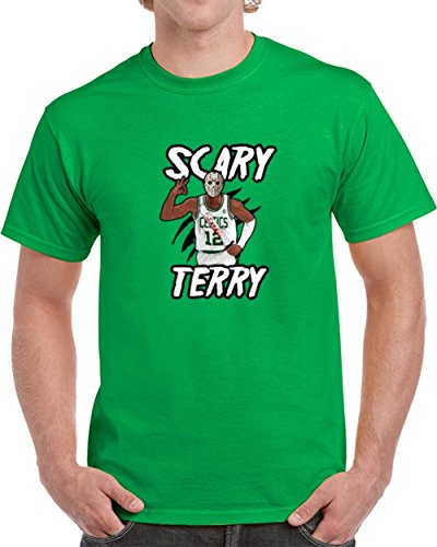 Scary Terry Bozier Jason Voorhees Halloween Boston Basketball T Shirt S Irish Green