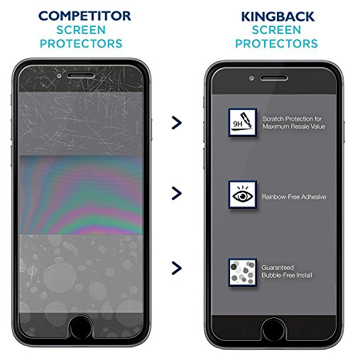 (2 Pack) iPhone 8 Plus / 7 Plus Screen Protector, KINGBACK [ Bubble-Free ][ Anti-Scratch ] [ 3D Touch Compatible ] Premium Tempered Glass Screen Protector for iPhone 7 Plus 8 Plus 5.5 INCH