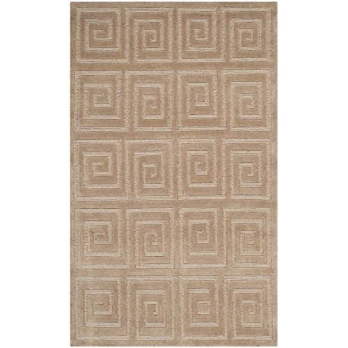 Safavieh Tibetan Collection TB108B Hand-Knotted Camel Wool Area Rug (4' x ()