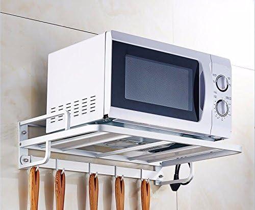 lzzfw Estantería de Cocina Microondas Espacio Rack de Aluminio ...