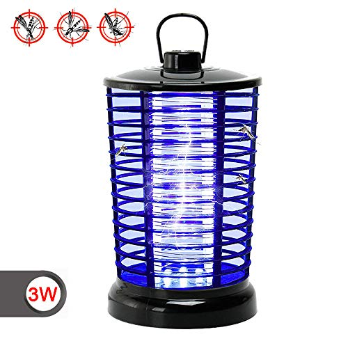 Lixada Electric Bug Zapper with UV Light & Hook,Portable Standing or Hanging Light for Home Office Indoor and Outdoor Use