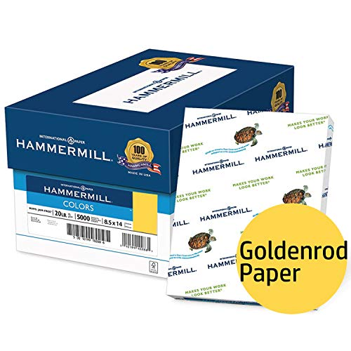 Hammermill Colored Paper, Goldenrod Printer Paper, 20lb, 8.5x14 Paper, Legal Size, 5000 Sheets / 10 Ream Case, Pastel Paper, Colorful Paper (103150C) by Hammermill (Image #7)