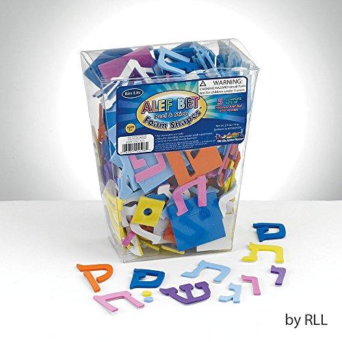 Alef Bet Foam Shapes - Peel & Stick Bet Foam