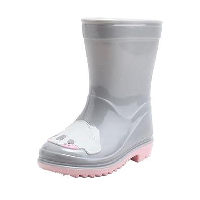 Kinder Gummistiefel Boots Regenstiefel Bogen Stiefel Wasserschuhe Mädchen Schuhe