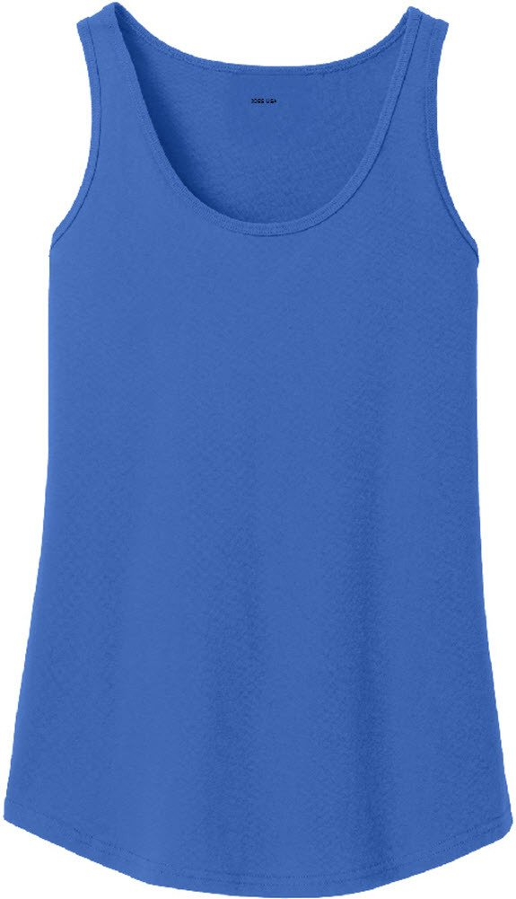 Joe's USA tm Ladies Soft 100% Cotton Tank Top-Royal-XL