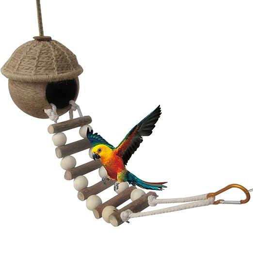 Yunt naturales Nido de Pájaro Coco Balancín Ladder Dormir Espacio ...