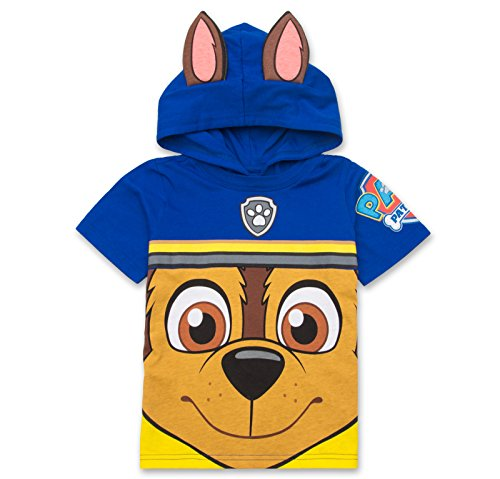 Nickelodeon Paw Patrol Hooded Shirt: Chase, Marshall, Rocky, Rubble, Zuma - Boys, Blue, 2T -