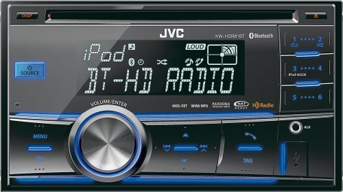 New JVC KW-HDR81BT Double DIN CD USB/AUX Car Receiver Player