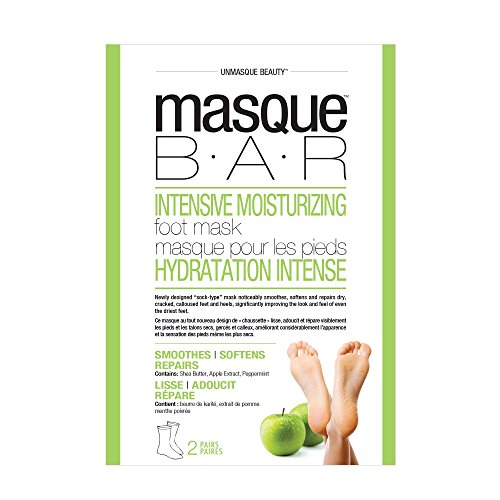 (masque BAR Intensive Moisturizing Foot Mask - Complete Softening Masks to Remove Calluses, 2-set)