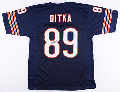 Signed Ditka Mike Hand - Mike Ditka Autographed Blue Chicago Bears Jersey - Hand Signed By Mike Ditka and Certified Authentic by JSA - Includes Certificate of Authenticity