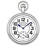 Gotham Men's Silver-Tone Mechanical Hand Wind Railroad Pocket Watch # GWC14102S
