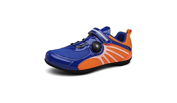 NZHK Mens Zapatillas de Ciclismo de Malla Transpirable Mando Hebilla de Zapatos de Ciclismo Profesional lockless,38EU: Amazon.es: Hogar