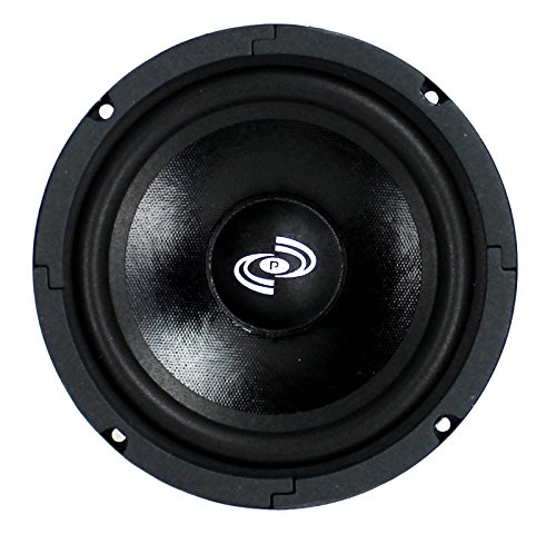 2) Pyle PDMR6 6.5'' 600W Car Mid Bass MidRange Woofer Audio Speakers 8 Ohm Black by Pyle (Image #1)