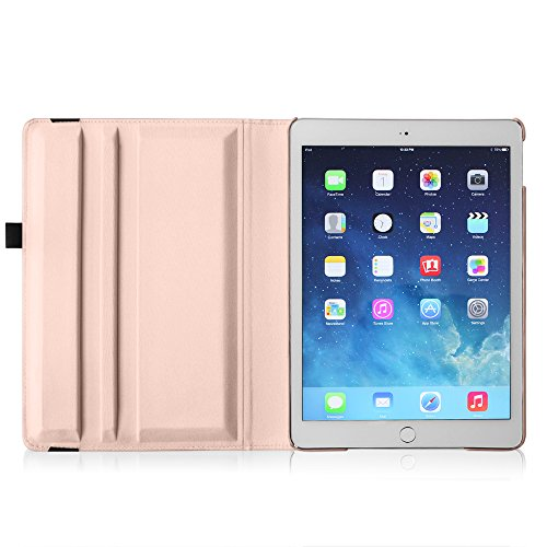 Fintie iPad mini 4 Case - 360 Degree Rotating Stand Case with Smart Cover Auto Sleep / Wake Feature for Apple iPad mini 4 (2015 Release), Rose Gold Photo #5