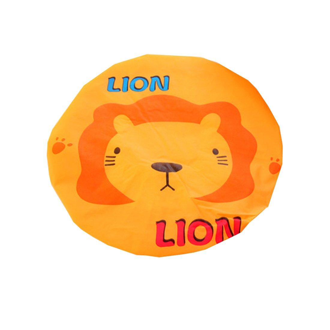 Ctgvh mignon Bonnet de douche, plastique élastique Animal Bain Motif étanche Maquillage capuchon pour les femmes filles (Motif lion)