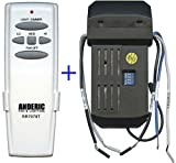 Anderic Add-on Remote Kit to Any 3-Speed Ceiling Fan - Anderic Universal Ceiling Remote Control Conversion Kit with Dimming for Hunter 99119, 99122, 99123, Hampton Bay, Harbor Breeze