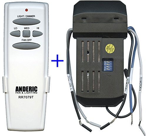 Anderic Add-on Remote Kit to Any 3-Speed Ceiling Fan - An...