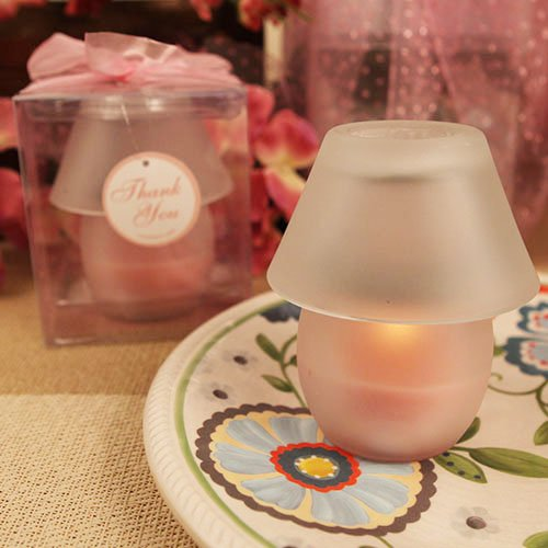 """""""Perfect Shade"""" Pink Candle Lamp - Set of 12"""
