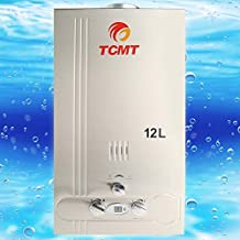 Tengchang 12L Natural Gas Tankless Hot Water Heater 3.2GPM Instant Home Bathroom Boiler