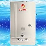 home water heater tank gas - Tengchang 3.2 GPM Natural Gas Hot Water Heater Tankless Stainless Steel 12L Instant Boiler