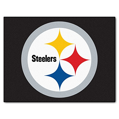 (FANMATS NFL Pittsburgh Steelers Nylon Face All-Star Rug)