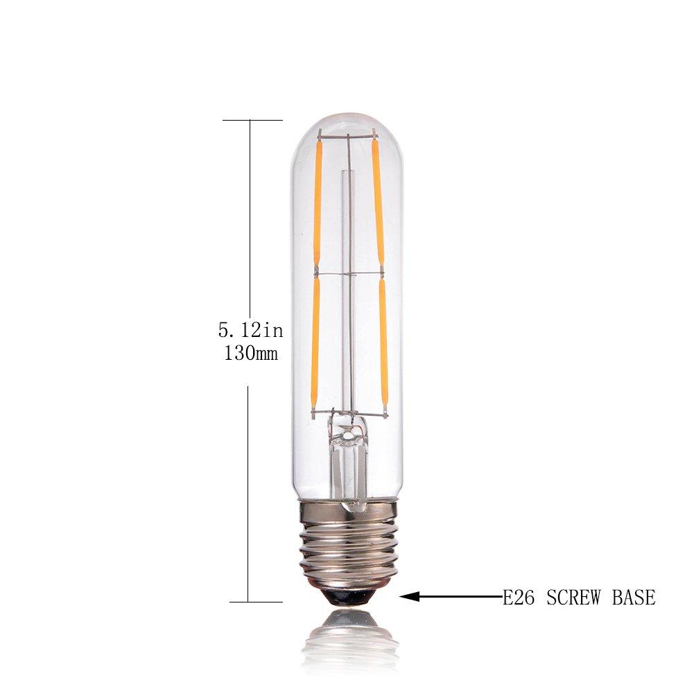 Century Light - 3W Dimmable Edison Style LED Fireworks Decorative Tube Bulb - T30 Antique Lamp - 30 Watt Equivalent - E26 Base LED Starry Light Bulb - Ultra ...