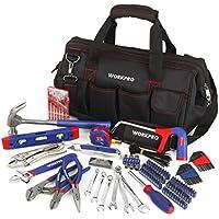 workpro w009036a 156-piece Home Reparación Tool Set, Complete Daily el uso de herramientas están incluidos en amplia Abrir la boca Bolsa de herramientas