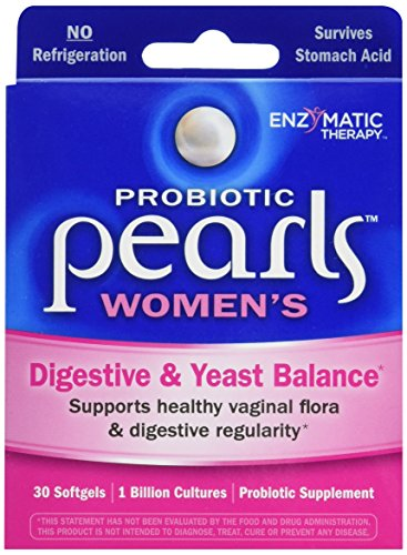 Probiotic Pearls Once Daily Women's Probiotic Supplement, 1 Billion Live Cultures, Survives Stomach Acid, No Refrigeration, 30 Softgels 511ewUaGy7L