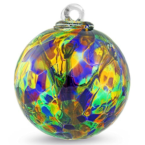 Witch Ball Serenity by Iron Art Glass Designs (4 Inch)