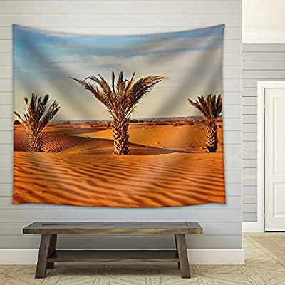 Palm Trees and Sand Dunes in The Sahara...