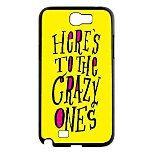 [Funny Design] Here's to the Crazy Ones Case For Samsung Galaxy Note 2, Samsung Galaxy Note 2 Case Girl Design Protective Hardshell For Girls {Black}