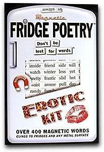 poesía de NEVERA - Magnético palabras - Erótica Kit - desagradable Palabras REGALO POEMA MUSE IMÁN: Amazon.es: Oficina y papelería