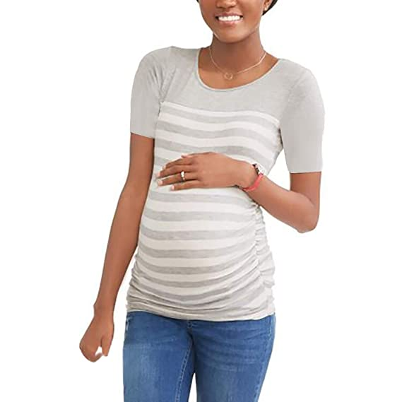 SULEAR New Maternity Wear Ropa De Maternidad Womens Loose Maternity Clothes Pregnant Shirts Casual Long Sleeve V Neck Pregna at Amazon Womens Clothing ...
