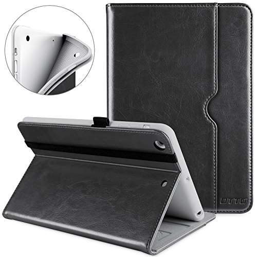 DTTO iPad Mini 1 2 3 Case, Premium Leather Folio Stand Cover