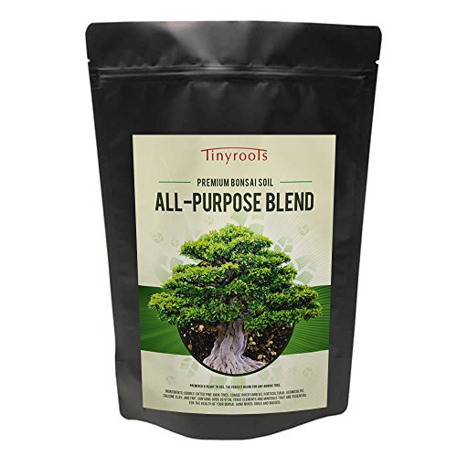 Bonsai Tree Soil All Purpose Blend - Two Quarts - Tinyroots-Brand 100% Organic All Natural Great For Any Bonsai Species Genuine Akadama and Turface 28 FRIT Mineral Additives For Extra ()