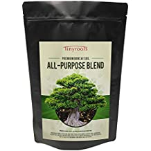 Bonsai Tree Soil All Purpose Blend - Two Quarts - Tinyroots-Brand 100% Organic All Natural Great For Any Bonsai Species Genuine Akadama and Turface 28 FRIT Mineral Additives For Extra Nutrition