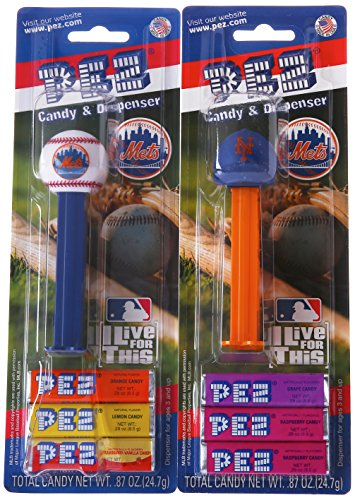 (PEZ MLB Candy Dispensers, New York Mets, 0.87 Ounce (Pack of 12))