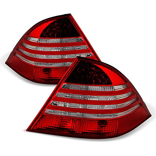 - ACANII - For 2000-2006 Mercedes Benz W220 S430 S500 S600 S55 LED Tail Lights Rear Brake Lamps