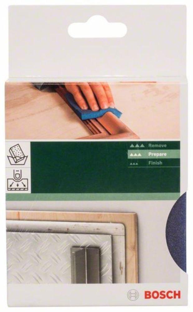 Bosch 2609256350 Abrasifs sur non tiss/Ã/© et sur mousse Eponge abrasive pour Arrondis 68 x 120 x 13 grain fin